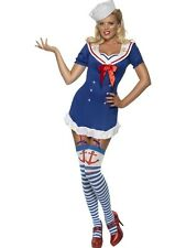 Ladies Sexy Fever Pin Up Ship Ahoy Sea Sailor Womens Fancy Dress Costume Outfit