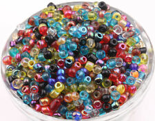 100/500pcs Mixed Tube Czech Glass Loose Spacer Seed Bead Charm 4mm DIY Makings