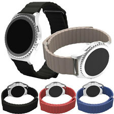 Fashion Leather Loop Type Watch Band Strap For Samsung Gear S2 Classic SM-R732