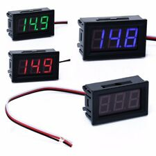 DC 0-30V Wires LED 3-Digital Mini Voltmeter Meter Display Voltage Panel Tester