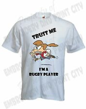Rugby Player Girl T-Shirt, Funny Rugby TShirt, Sports T Shirt Personalised S-XXL