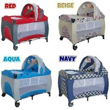 NEW 8 IN 1 BABY PORTABLE TRAVEL COT BASSINET PLAYPEN BED CRIB PORTACOT!