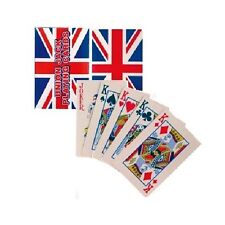 Union Jack Playing Cards Plastic Coated Pack Queen Party (1, 12 or 30 Packs)