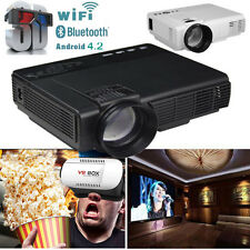 3500LM HD LED Wifi Projector 3D LCD Smart Home Theater TV HDMI 1080P +VR BOX Lot