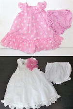 Marmellata Toddler Girls Dresses with Bloomers Sizes 9-12M or 18-24M NWT