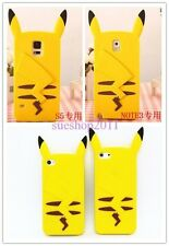 Yellow Pet elves Pokemon Pikachu Soft Silicone Case For iPhone/Samsung/Huawei