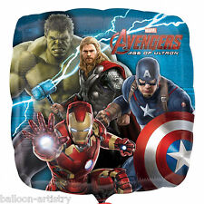 """18"""" Marvel's Avengers 2 Age Of Ultron Superhero Party Square Foil Balloon"""