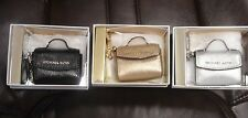 Michael Kors Ava Mini Purse Key Fob/Charm in Black, Gold or Silver ~ NWT/NIB