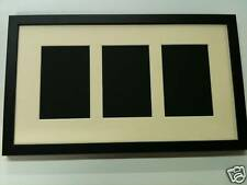 NEW MULTI APERTURE PHOTO FRAME FITS 3 6X4 PHOTOS Multi-Picture Frames