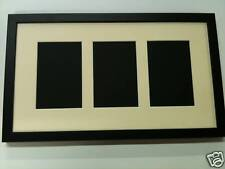 NEW MULTI APERTURE PHOTO FRAME FITS 3 7X5 PHOTOS Multi-Picture Frames