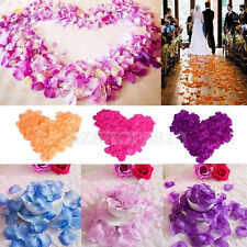 1000/2000pcs Simulation Rose Petals Wedding Party Table Confetti Decorations New