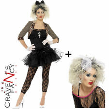 Adult 80s Wild Child Costume Ladies Madonna 1980s Popstar Fancy Dress Outfit New