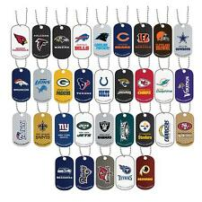 NFL Dog Tag Necklace Earrings Patriots Dolphins Jets Bills Bengals Steelers