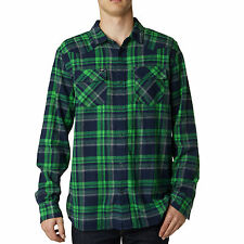 Fox Racing Mens Jade Green/Black Tidal Long Sleeve Button-Up Shirt