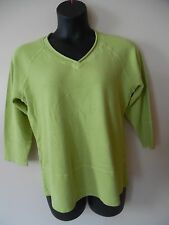 ORCHADIA CASUALS COTTON OLIVE GREEN LONG SLEEVES KNIT TOP SIZE M NWT