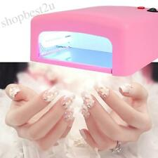 Newest 36W EU 220V Nail Art UV Lamp Salon Gel Curing Manicure Light Dryer Tool