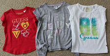 Guess Jeans 2 2T 3 3T Tee Shirt Top S/S Girls Options Gray White Red FREE NWT