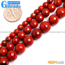 """Natural Red Jasper Gemstone Faceted Round Beads Free Shipping 15"""" 6mm 8mm 10mm"""