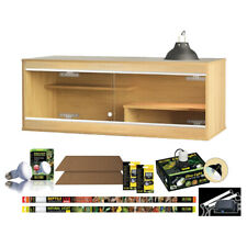 VIVEXOTIC VIVA BEARDED DRAGON OAK VIVARIUM STARTER KIT CABINET LIGHT LAMP BULB