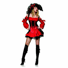 Leg Avenue Sexy Vixen Swashbuckler Pirate Wench Halloween Costume w/ Hat