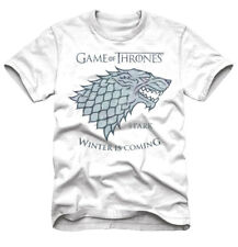Game of Thrones Stark Winter Is Coming White Adult T-Shirt