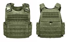 Rothco 8924 MOLLE Plate Carrier Vest - Front & Back Internal Sleeve - Olive Drab