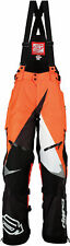 Arctiva Mens Black/Orange/White Comp Insulated Snowmobile Bibs/Pants