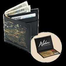 Weber's Camo Leather Billfold Wallet, 3 Camo Choices, Bill Divider, Bifold, Nice