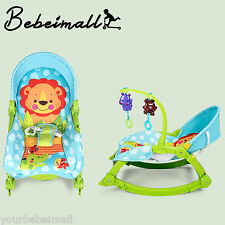 Folding Adjustable Baby Rocker Bouncer Chair Infant to Toddler Vibrating Seat