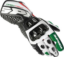 Spidi Carbo Track White/Black/Green/Red Italian Flag Mens Motorcycle Gloves