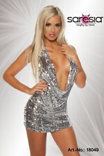 Sexy Ladies Pailettenkleid Mini Dress with Sequins silver GoLd Size XS S M L