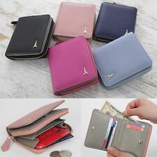 Women Genuine Leather Small Bifold Wallet Purse Card Coin Bill Holder Clutch New