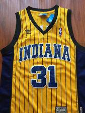 NBA Indiana Pacers Reggie Miller Throwback Sewn/Stitched Jersey NWT
