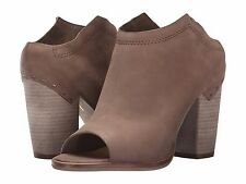 Women's Shoes Dolce Vita Noa Peep Toe Mule Leather Booties Taupe *New*