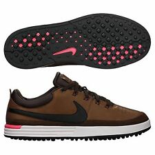 Nike Lunar Waverly Golf Shoes 652780-200 Brown/Black/Hyper Punch Mens New FREE S
