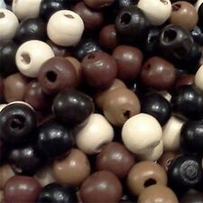 300pcs Assorted Wooden Beads Round Spacers Loose Beads Crafts Jewelry Findings