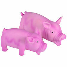 Puppy / Dog Pet Toy - Latex Pink Pig With Realistic Pig Grunting Sounds NEW