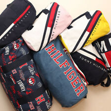 NEW Tommy Hilfiger Duffle Bag Harbor Point Gym Bag White Red Navy Khaki NWT