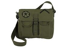 Rothco 8277 Shoulder Bag - Olive Drab (O.D.) with Military Patches