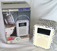 EMMA BRIDGEWATER VQ Retro Mini DAB/FM Bluetooth Digital Radio BLUE DAISY