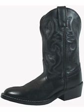 Smoky Mountain Childrens Black Denver Leather Cowboy Boots