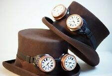 SteamPunk-Victorian-Cos-Play-Gothic-SCIFI-TOP HAT WITH CLOCKFACE GOGGLES