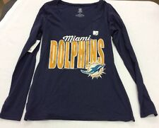 Authentic NFL Apparel Women's Long-Sleeve Miami Dolphins Touchdown T-Shirt