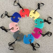 "Elephant Silicone Teether Teething Beads Baby & Mum Jewellery Necklace ""Elly"""