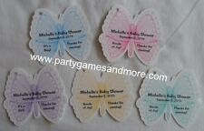 UNIQUE PERSONALIZED BUTTERFLY BABY SHOWER, BIRTHDAY PARTY FAVOR GIFT TAG SO CUTE