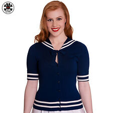 Hell Bunny Jacket Alexa Cardigan - Sailor in 1950's Years Style Anchor Pin up
