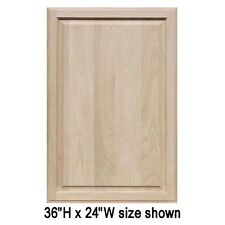"""Unfinished Oak Cabinet Doors, Square with Raised Panel by Kendor (25""""H & Up)"""