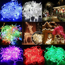10M 100 LED Christmas Tree Home Fairy String Party Lights Lamp Xmas Connectable
