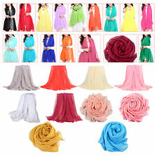 Trendy Summer Care Solid Color Scarf Shawl For Women HY