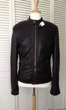 NEW Authentic ROBERTO CAVALLI Men's Whipstitch Black Leather Jacket-MSRP $1,950